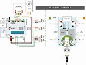14core Light Tracking  Finder Bot On L298n    L293d With