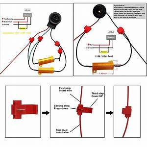For Honda 1157 1157a Dual Color Turn Signal Light Led Bulb  2pcs Resistors