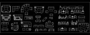 Sofa's Autocad Block Plan n Design