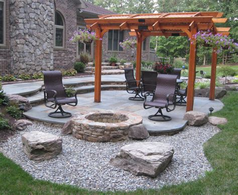 Inexpensive Outdoor Kitchen Ideas - tips of best patios with fire pits homesfeed