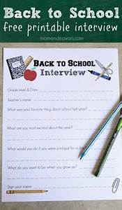 Back To School Interview Printable