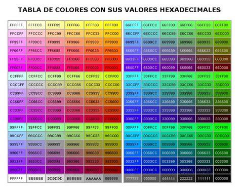 colores hexadecimales c 243 digos hexadecimales de color juanjo afonso rivero