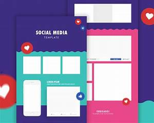 Free social media post template psd download download psd for Social media template psd