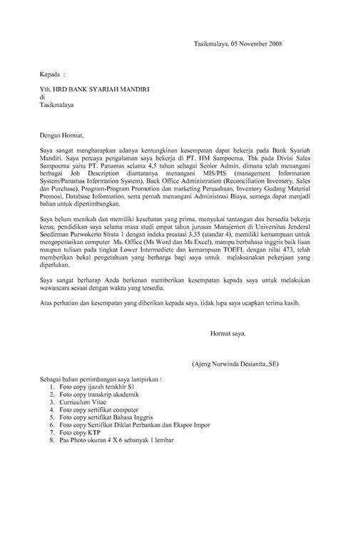 contoh cover letter  internship contoh sit