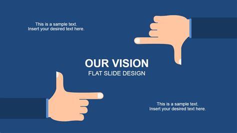 flat framing hands vision  powerpoint slidemodel