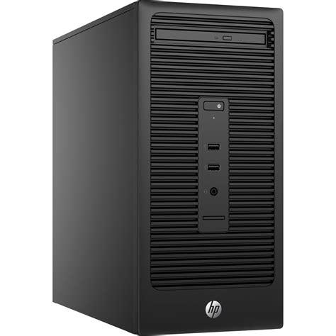 pc bureau windows 7 pro hp 280 g2 microtower desktop computer t6w22ut aba b h photo