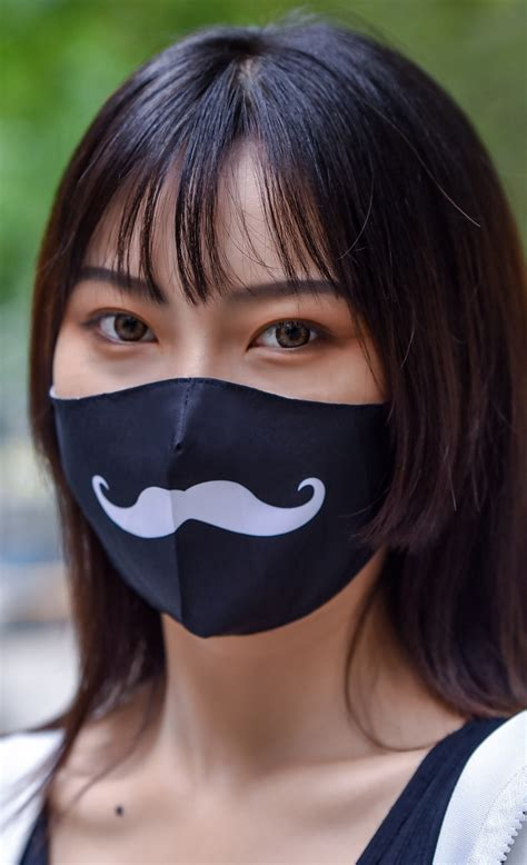 Moustache Face Mask Insert Coin Clothing