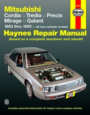 auto repair manual free download 1986 mitsubishi cordia engine control mitsubishi cordia tredia galant precis mirage haynes repair manual 1983 1993 xxx68020