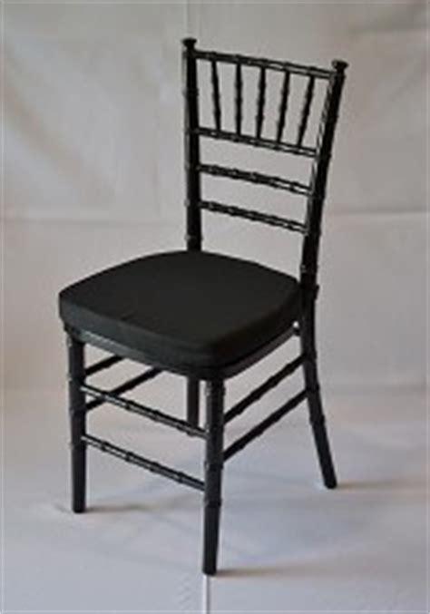 black resin chiavari chair with white cushion superior