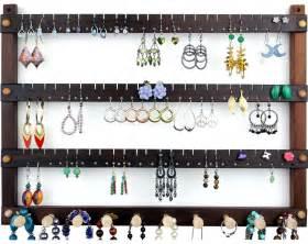 earring stud holder earring holder wall mount jewelry organizer peruvian walnut
