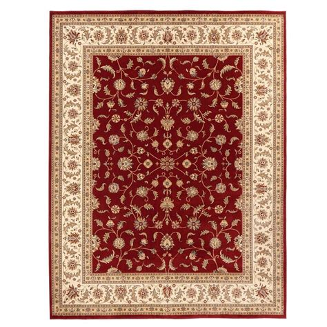 home decorators collection maggie red 3 ft 11 in x 6 ft