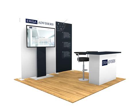 custom tv stand designs 10x10 turn key trade booth design 1401 interlink plus