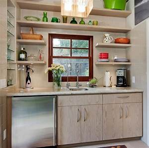 Beautiful and functional storage with kitchen open for Open cabinet kitchen ideas