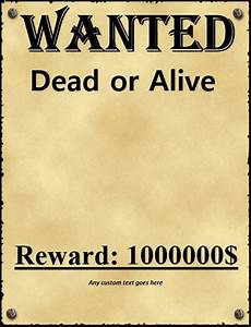 Real wanted posters template wwwpixsharkcom images galleries with a bite for Old west wanted poster template