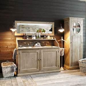 Mobilier de salle de bain en bois photo 15 15 de tres for Meubles de montagne en bois 15 decoration salle de bain bois
