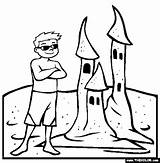 Sand Castle Coloring Template Clip Thecolor sketch template