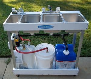 Sink Mobile Concession 3 Compartment Hot Water Large Basin