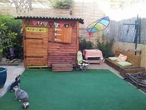 Cabane Exterieur Enfant : cabane pour enfants en palettes construction pour jardin ~ Melissatoandfro.com Idées de Décoration