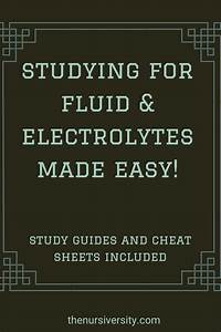 Studying For Fluid And Electrolytes Made Easy In 2020