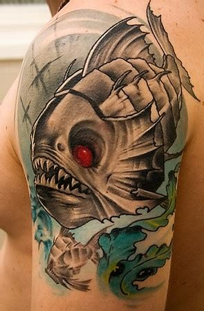 tattoos piranha tattoo