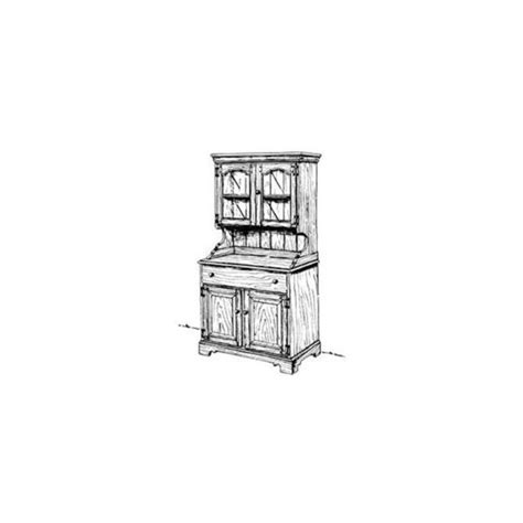 country buffet  hutch woodworking plan