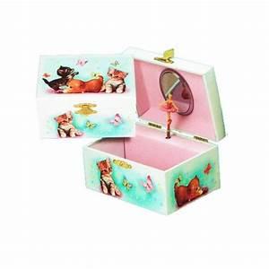Boite A Bijoux Fille Originale : boite bijoux musicale petits chats pour enfants cavacado ~ Teatrodelosmanantiales.com Idées de Décoration