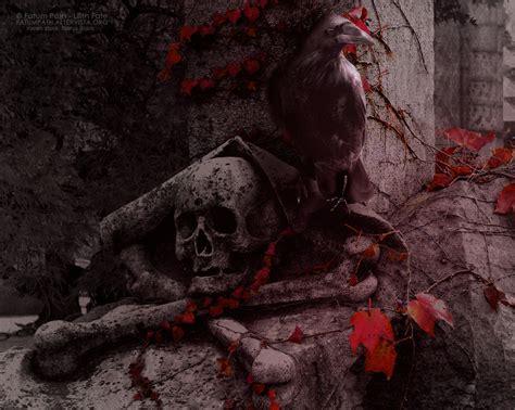 Skull And Raven By Vampyrempress On Deviantart