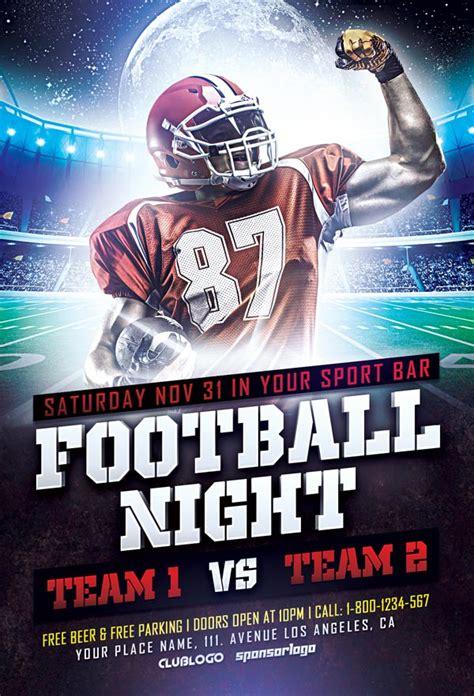 football sports flyer template