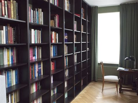 wall to ceiling bookcases ikea hackers floor to ceiling billy bookshelves for