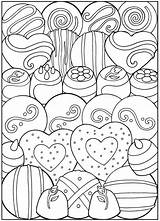 Coloring Dessert Pages Printable Desserts Adult Sheets Valentine Books Dover Designer Creative Valentines Birthday Haven Publications Colouring Candy Samples Drawing sketch template