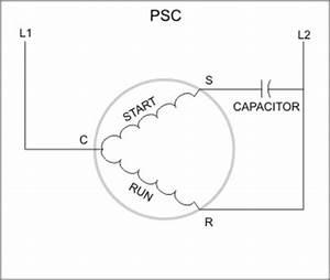 permanent split capacitor motor wiring diagram With psc wiring diagram