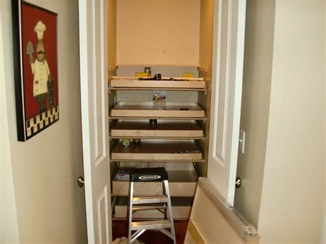 closet walk in pantry roll out shelves boston by