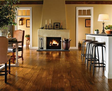 Wood Plank Wall Around Fireplace