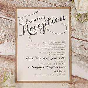 evening wedding invitations cartalia With evening wedding invitations wording uk