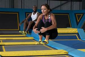 Fitness classes on huge trampolines?