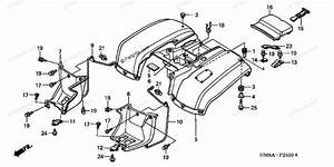 Honda Atv 2003 Oem Parts Diagram For Rear Fender  Tm  U0026 39 02