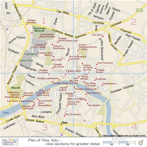 pisa map and pisa satellite image