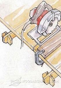 DIY Circular Saw Edge Guide - Circular Saw Tips, Jigs and