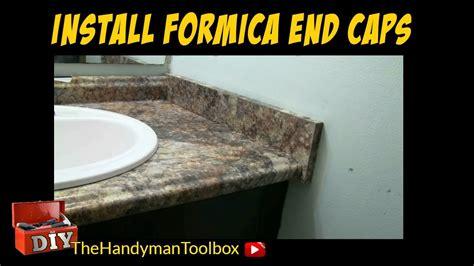 install formica  caps   bathroom vanity youtube