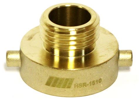 Nni Fire Hydrant Brass Adapter 1-1/2
