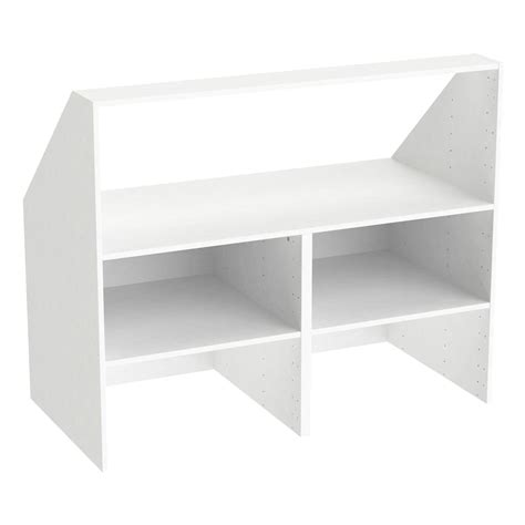 caisson sous comble spaceo home 100 x 120 x 60 cm blanc leroy merlin