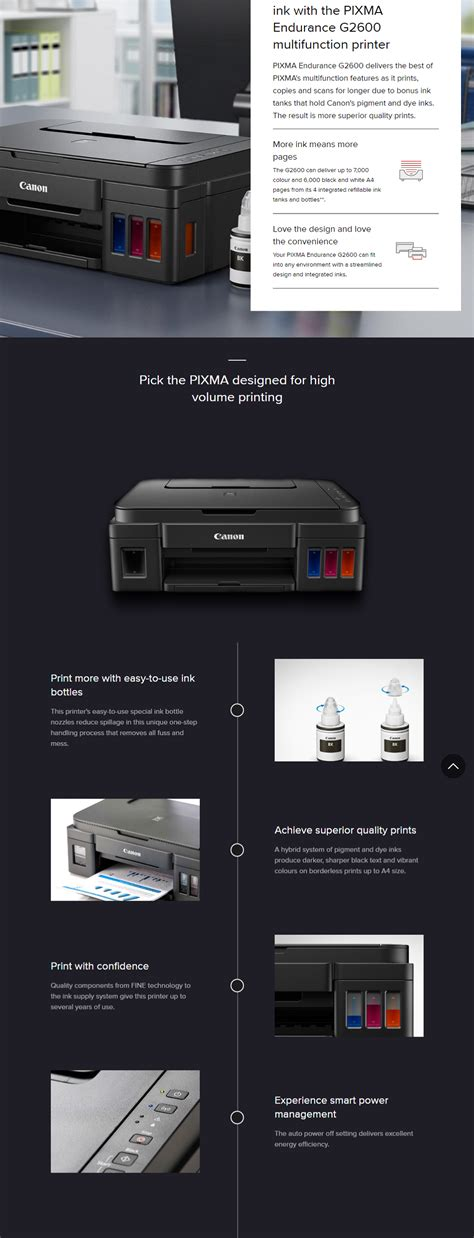 canon shopping canon pixma endurance g2600 multifunction printer g2600