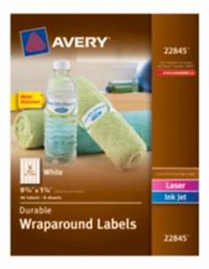 Labels averyr durable wraparound labels 22845 9 3 4quot x 1 for Avery water bottle labels 22845