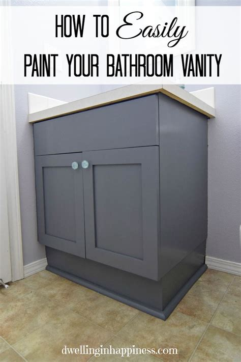 How To Refinish Bathroom Cabinets With Paint by How To Paint Your Bathroom Vanity The Easy Way