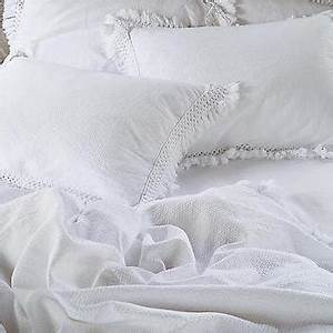 White Cotton Textured Ruche Duvet