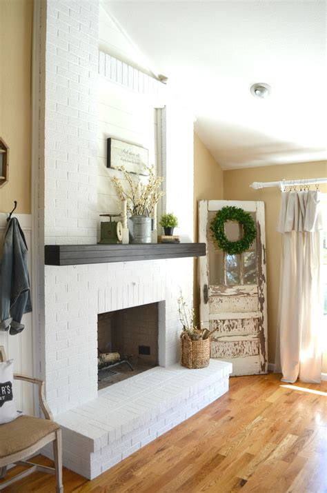 paint  brick fireplace  vintage nest