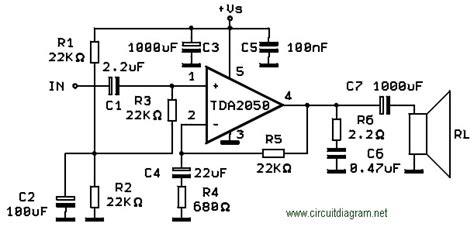 fi audio amplifier  tda circuit schematic