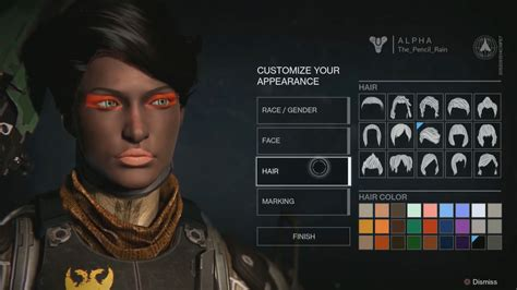 Destiny Gameplay Making Faces With The Character Creator