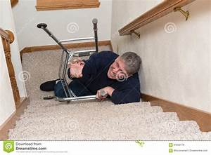 Elderly Man Slip Fall Home Accident Stock Photo - Image ...