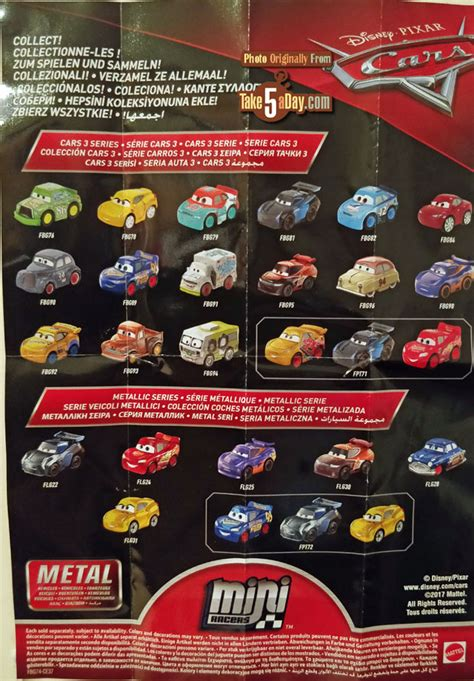 day blog archive mattel disney pixar cars  metal mini diecasts wave